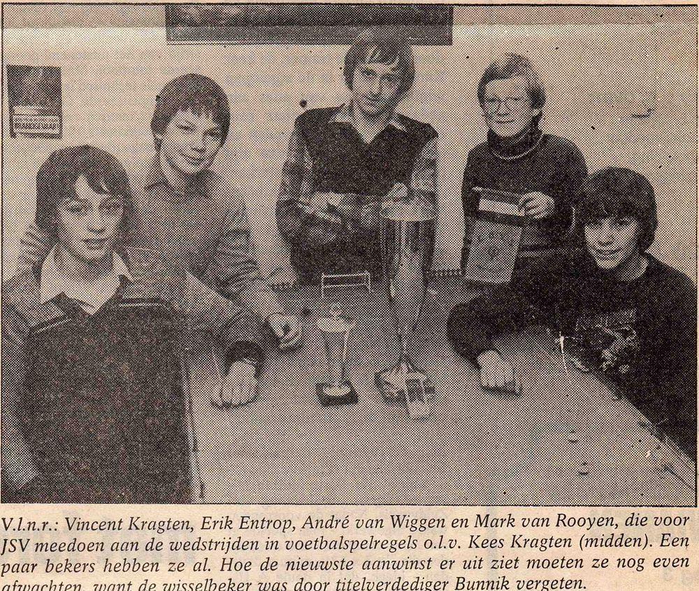 Anno 1975: JSV-jeugd bulkt van spelregelkennis