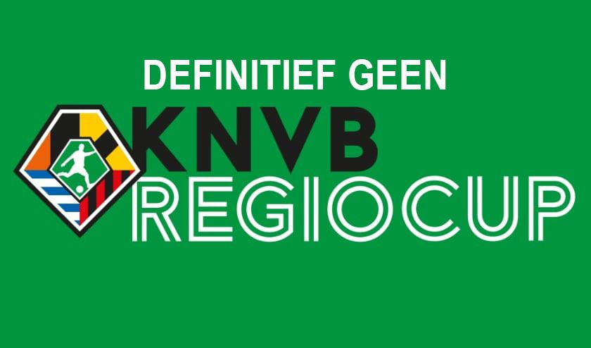 Definitief geen KNVB Regiocup